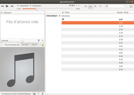 Gmusicbrowser en format mini player