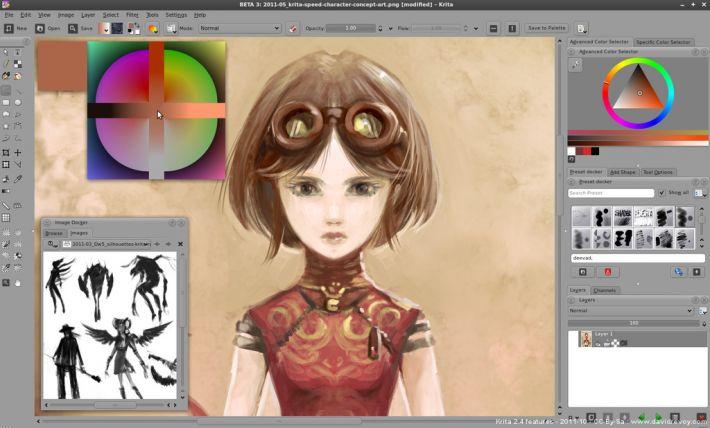 Krita Drawing Line Art : Krita wiki ubuntu fr