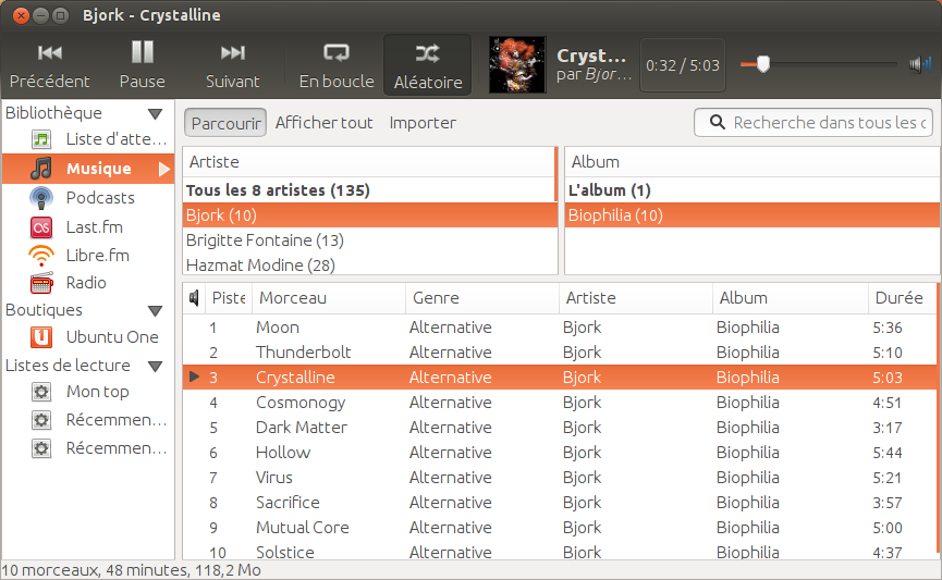 greffon mp3 ubuntu