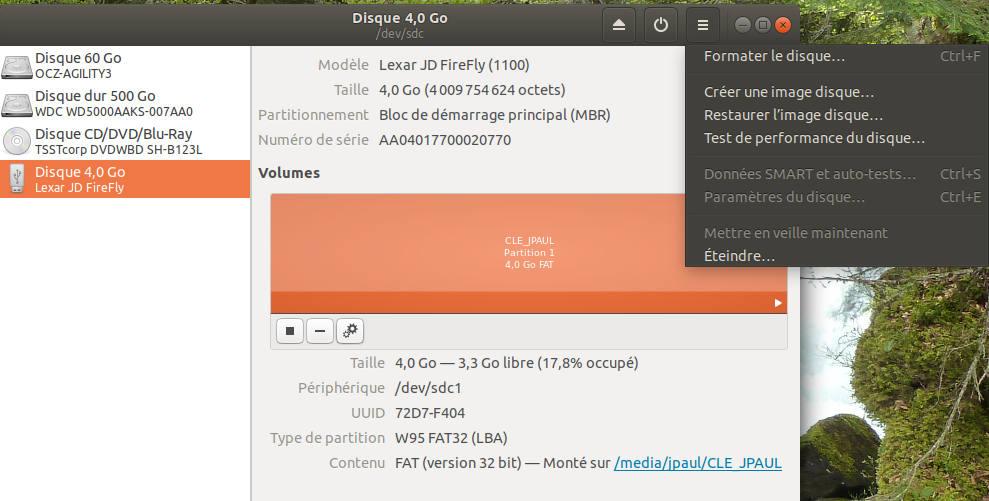 creer cle usb bootable windows 10 avec ubuntu
