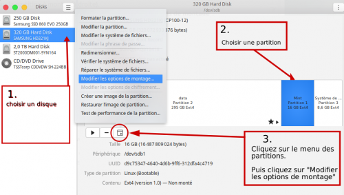 Comment choisir la partition à monter