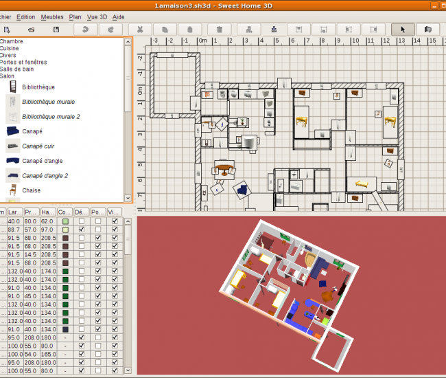 Sweethome3d documentation ubuntu francophone for Creer plan maison 3d