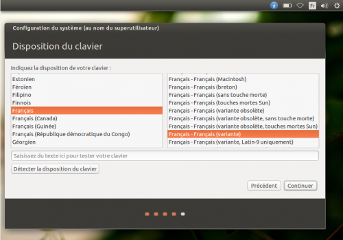 Disposition du clavier