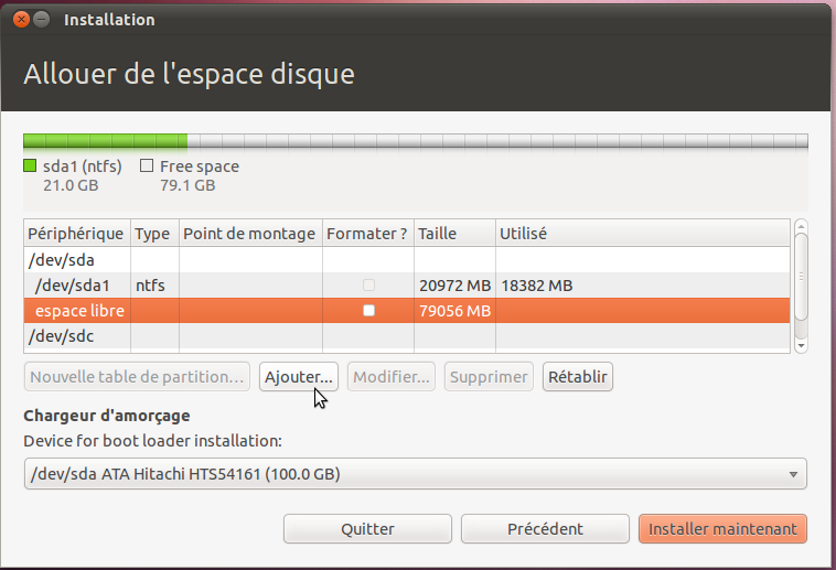 tutoriel installation sur disque usb
