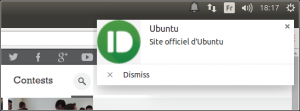 Une notification de Pushbullet dans Chromium
