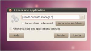 """Enter the instruction as """"gksudo"""" program name """""""" (eg """"gksudo"""" update-manager """""""")."""