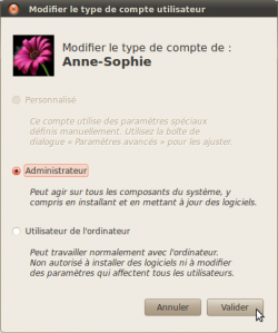 Promote a user account to the administrator position in Ubuntu 10.04 LTS