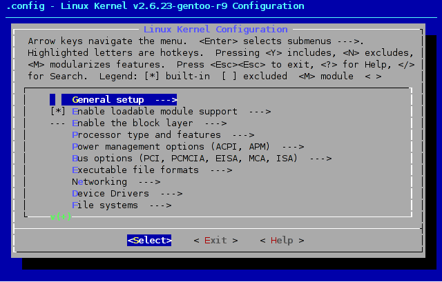 make menuconfig