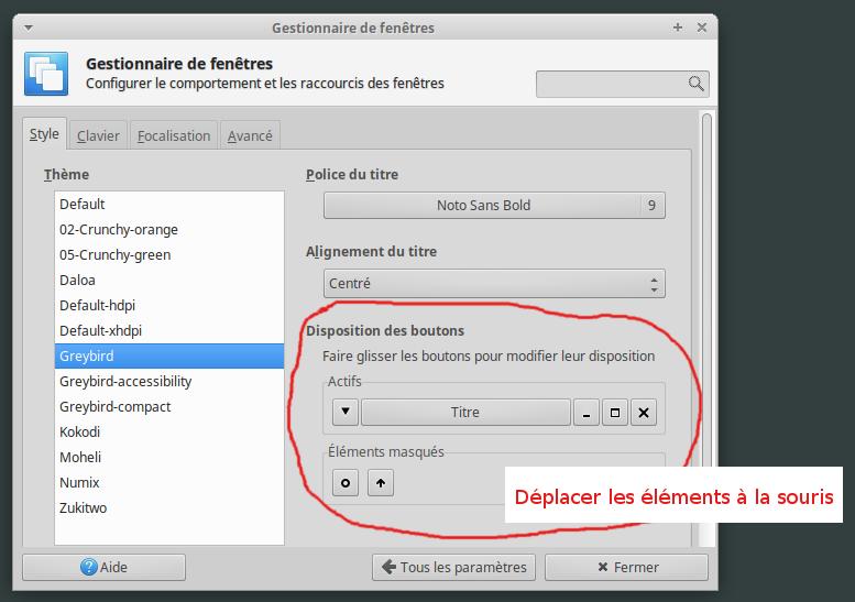 Tutoriel comment deplacer boutons minimiser maximiser for Xfce decoration fenetre