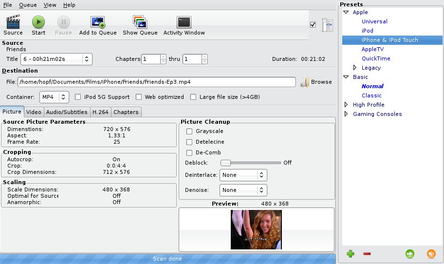 encodage video Handbrake