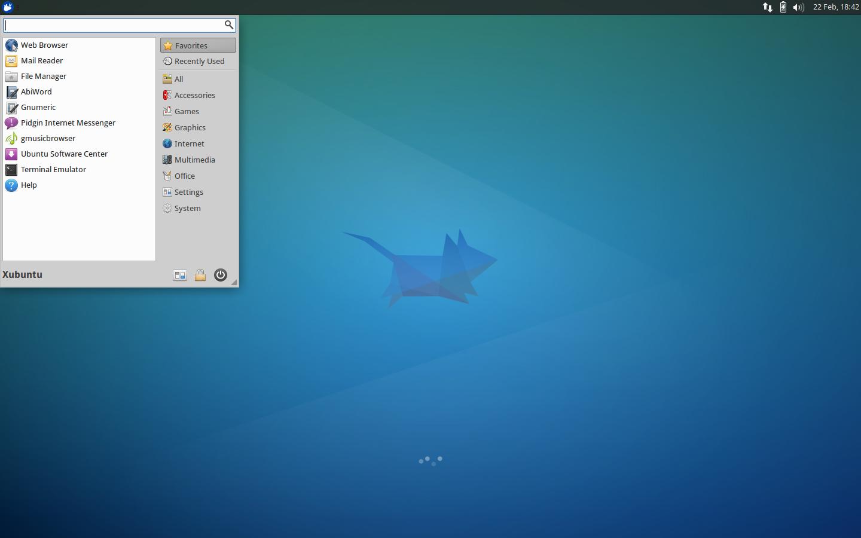 Description de l'environnement de XUbuntu